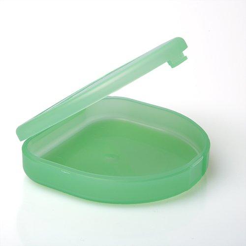 Ultraflache Box für Aufbissschiene oder Knirscherschiene (grün)