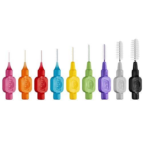 TePe Interdentalbürsten Original gemischt (ISO Größe 0-7: 0,4-1,3mm) / Für eine einfache und gründliche Reinigung der Zahnzwischenräume / 1 x 8 Interdental Bürsten