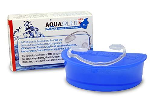 AquaSplint CMD-Aufbiss-Schiene Soforthilfe bei Kiefergelenkschmerzen (Nicht gegen Knirschen dafür Bruxi-Splint einsetzen) - beißschiene für Muskelentspannung MADE IN GERMANY