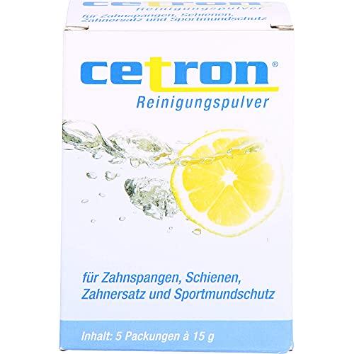 cetron Reinigungspulver für Zahnspangen, Schienen, Zahnersatz und Sportmundschutz, 5 St. Beutel