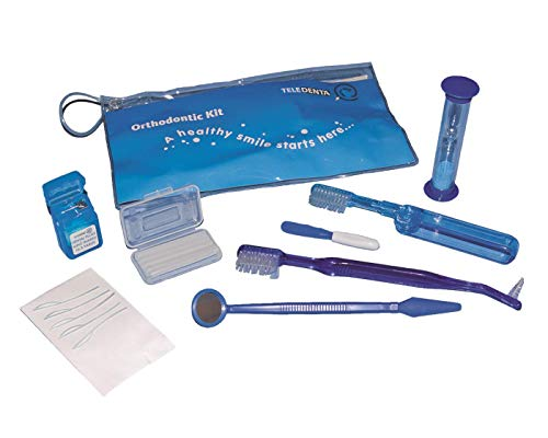 Schutzwachs in Ortho Kit Zahnpflegeset für unterwegs und zuhause – Mundpflege-Set mit Interdentalbürste, Zahnseide, Zahnspangenwachs uvm. - Ideal für Zahnspangenträger