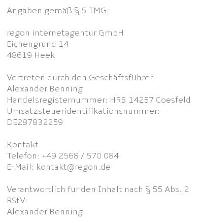 Impressum - Ein Screenshot eines Handys - Dokumentieren